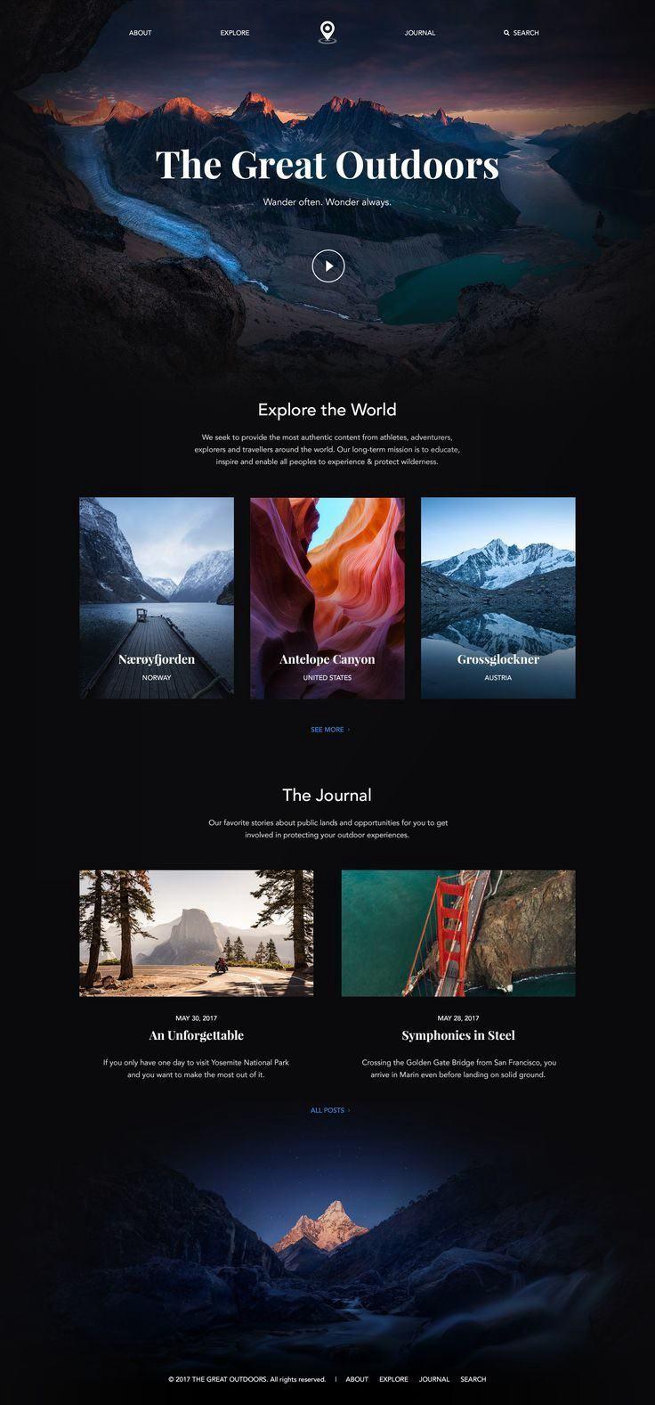 Tendencias diseño web 2019 - Imágenes de fondo. Pantalla completa.