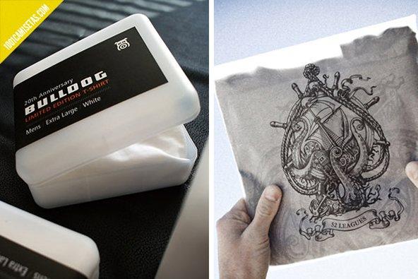 Bulldog empaque de camisetas: 25 ejemplos creativos de packaging para camisetas – Parte 2