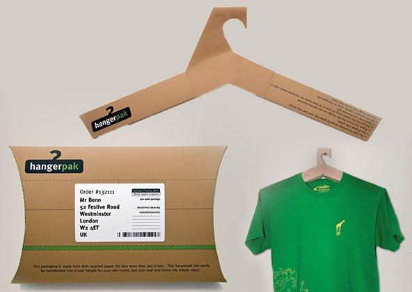 Ganchos como empaque - Hangerpack: 25 ejemplos creativos de packaging para camisetas – Parte 2