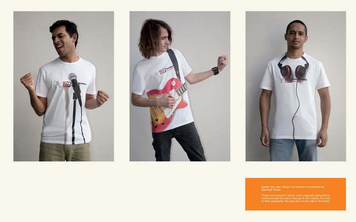 Marshall music - camiseta promocional