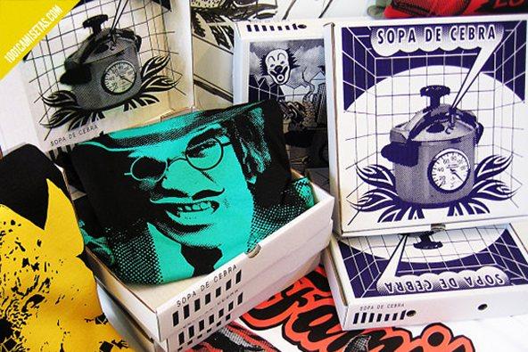 Sopa de cebra empaque: 25 ejemplos creativos de packaging para camisetas – Parte 2
