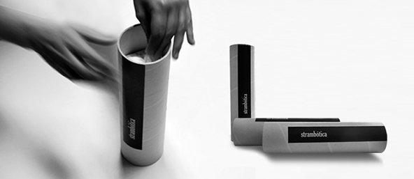 Strambotica blanco y negro : 25 ejemplos creativos de packaging para camisetas – Parte 2