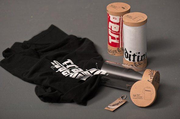 Tradition-t-shirt packaging 2: 25 ejemplos creativos de packaging para camisetas – Parte 2