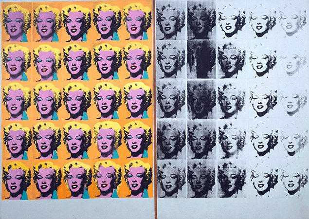 Marilyn Diptych 1962 by Andy Warhol 1928-1987