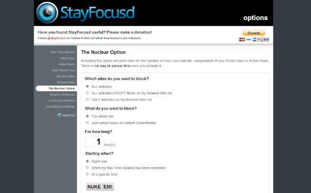 Aplicaciones de productividad - Stay Focusd