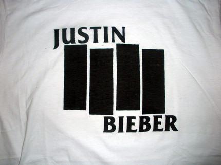 Fails de Camiseta - Justin Bieber en Black Flag