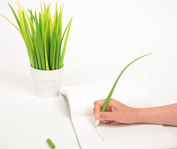 Bolígrafos de hierba - Merchandising para empresas