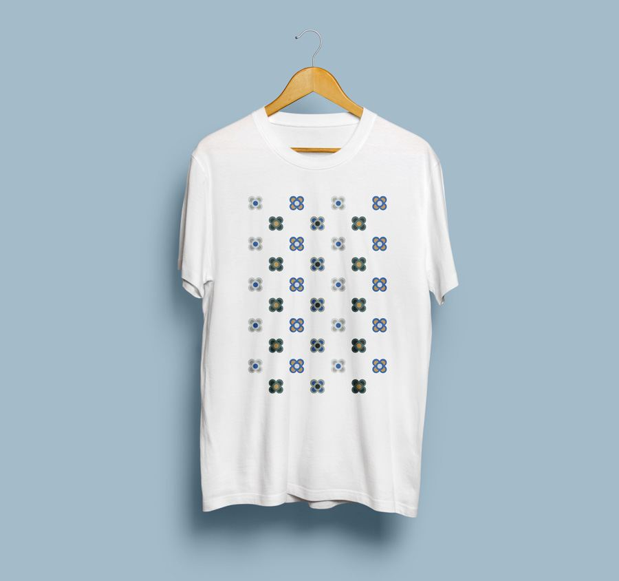 Camiseta estampada Flor de Barcelona