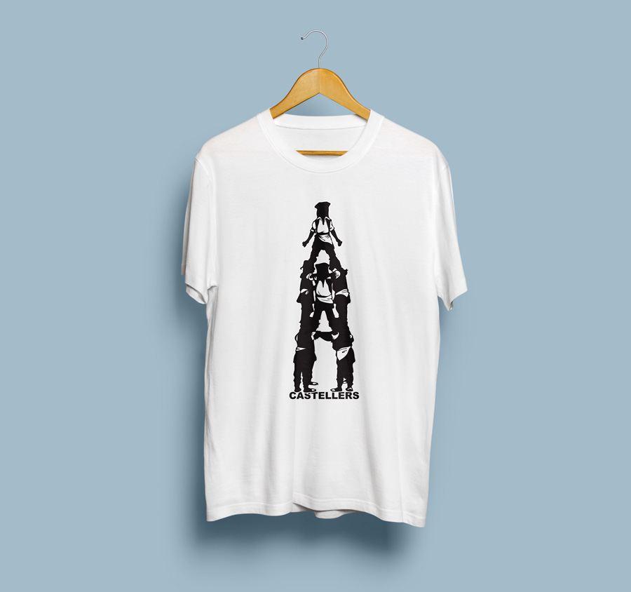 Camiseta estampada Castellers