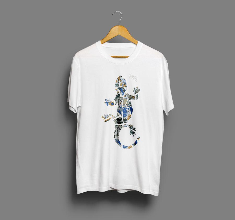 Camiseta estampada Gaudi