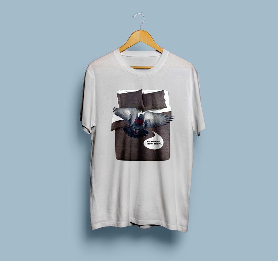 Camiseta estampada Paloma