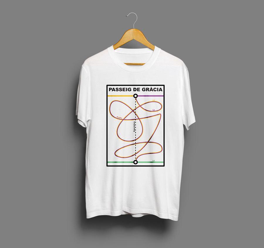 Camiseta estampada Passeig de gracia