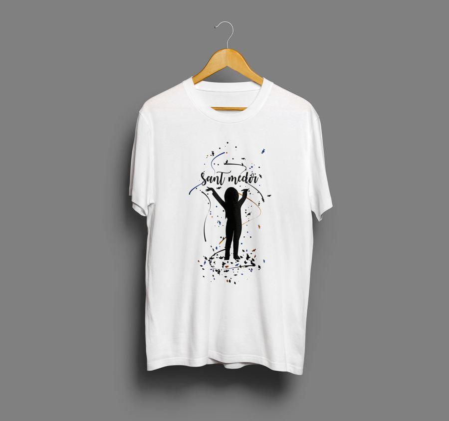 Camiseta estampada Sant medir