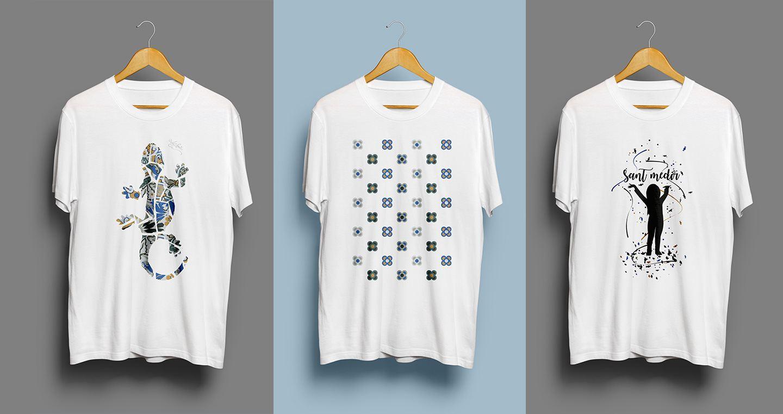 3d72799fa8 Camisetas estampadas que representan Barcelona