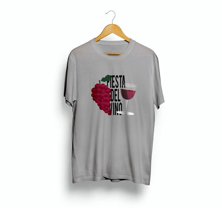 camiseta estampada de la fiesta del vino de valencia