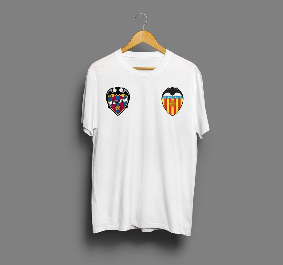 camisetas estampadas de futbol de Valencia
