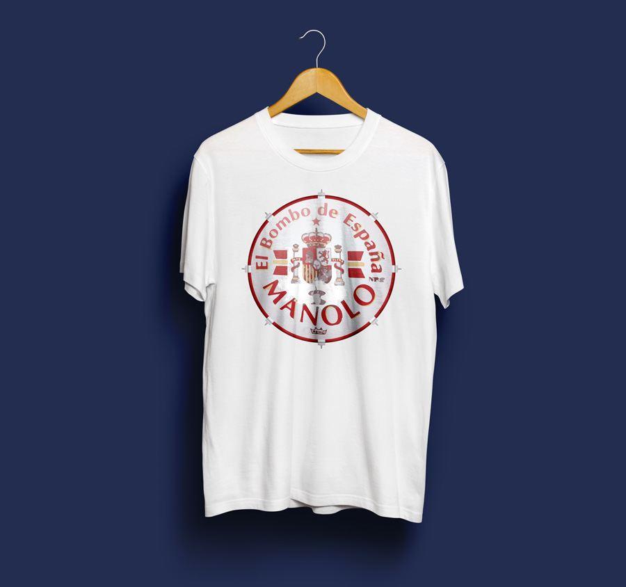 camiseta estampada de manolo del bombo