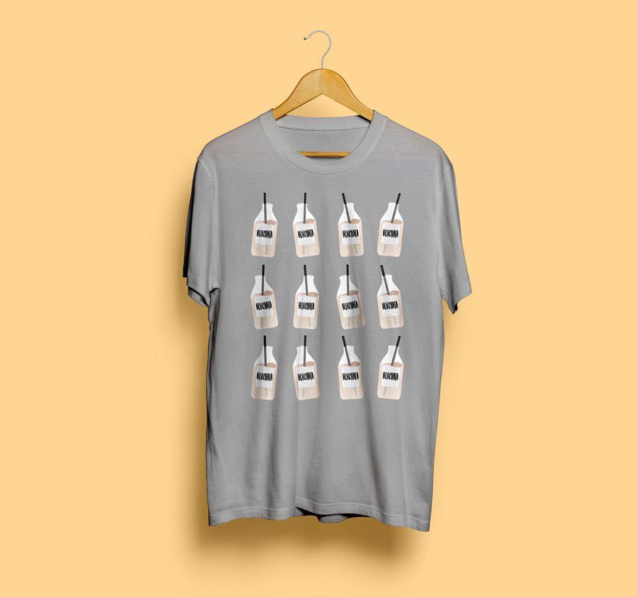 camiseta personalizada con diseño de horchata