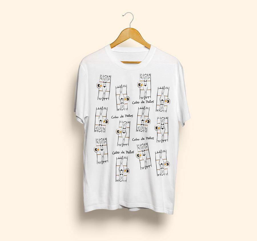 camiseta estampada cabo de palos