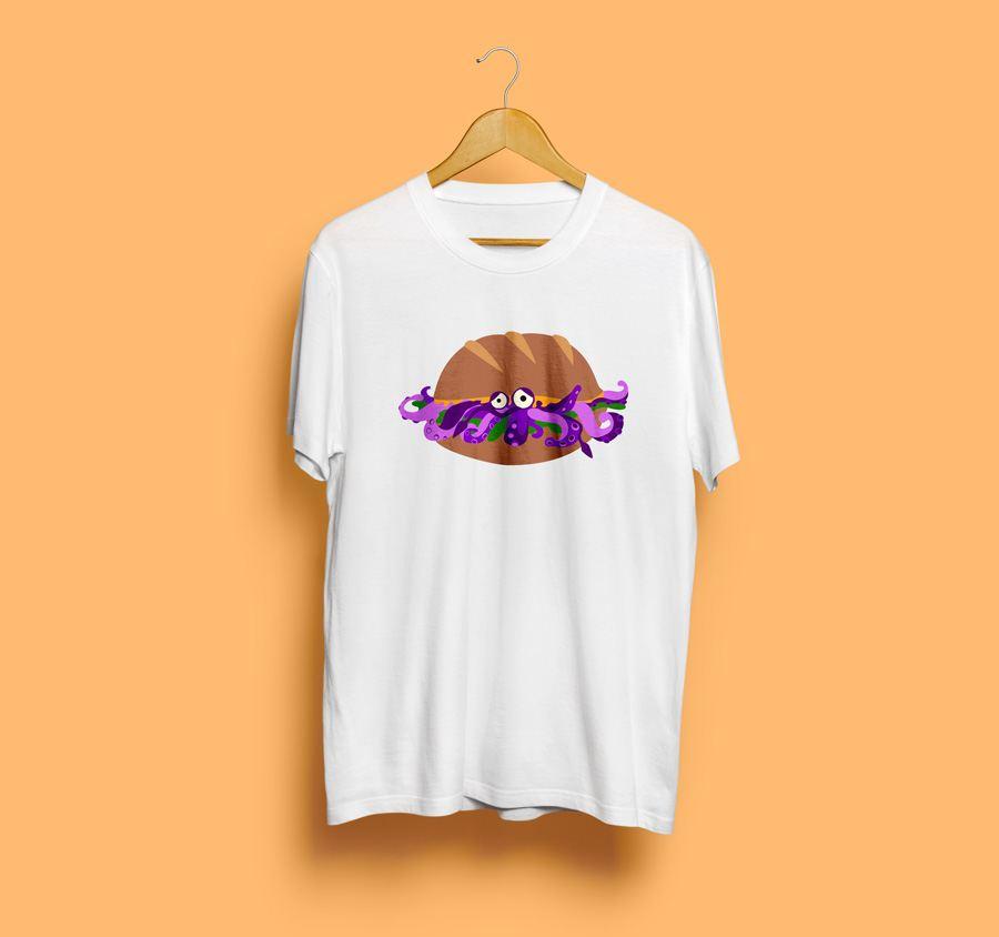 Camiseta estampada de calamares