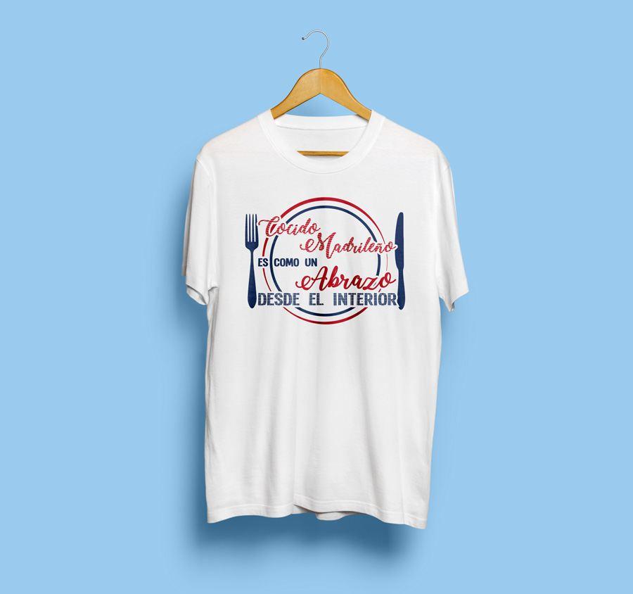 Camiseta estampada cocido madrileño