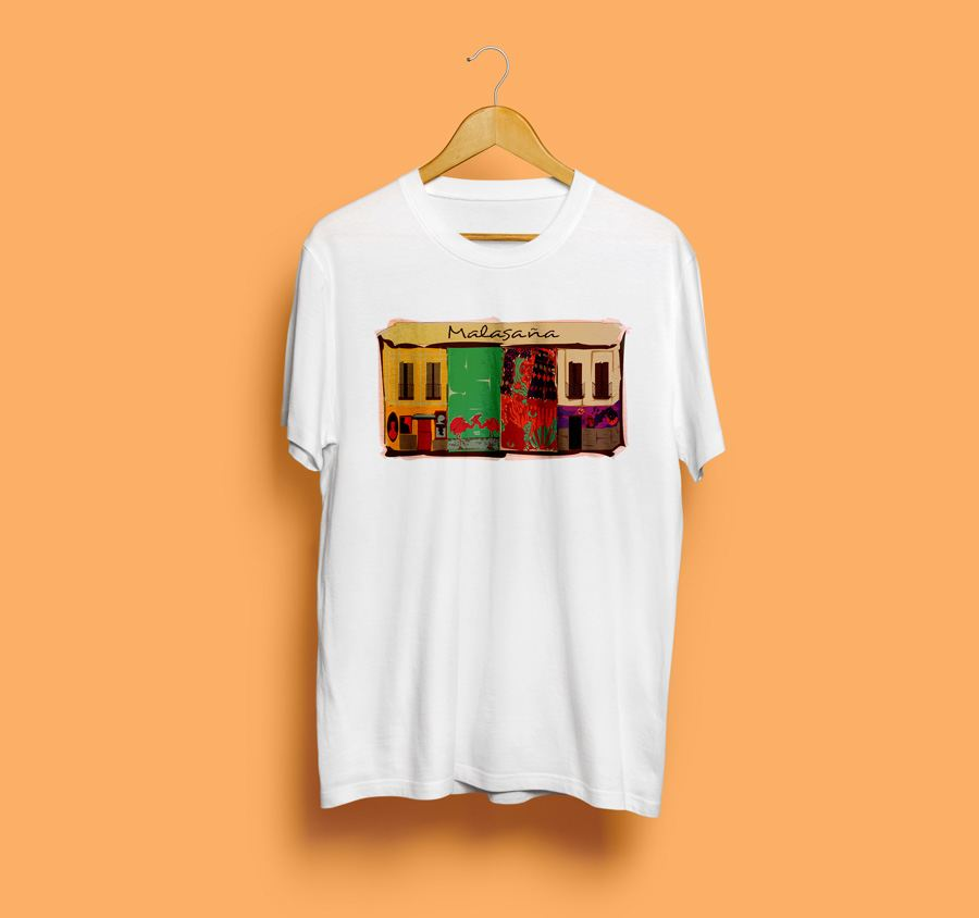 Camiseta estampada malasaña