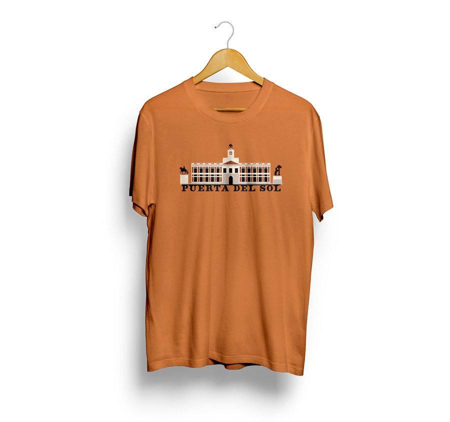 Camiseta estampada puerta de sol