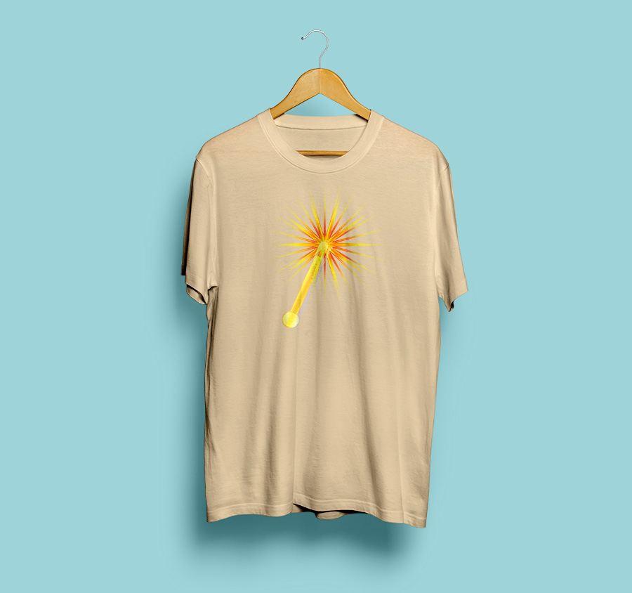 camiseta estampada sol de sevilla