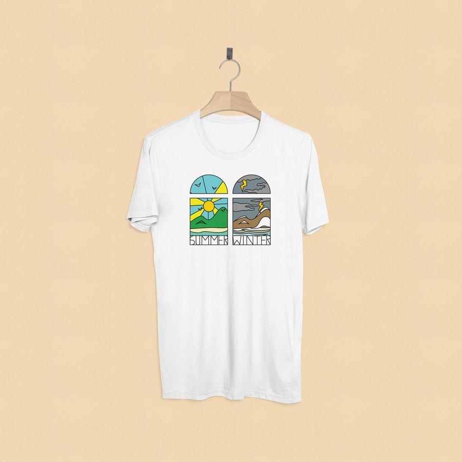 camisetas estampadas summer and winter