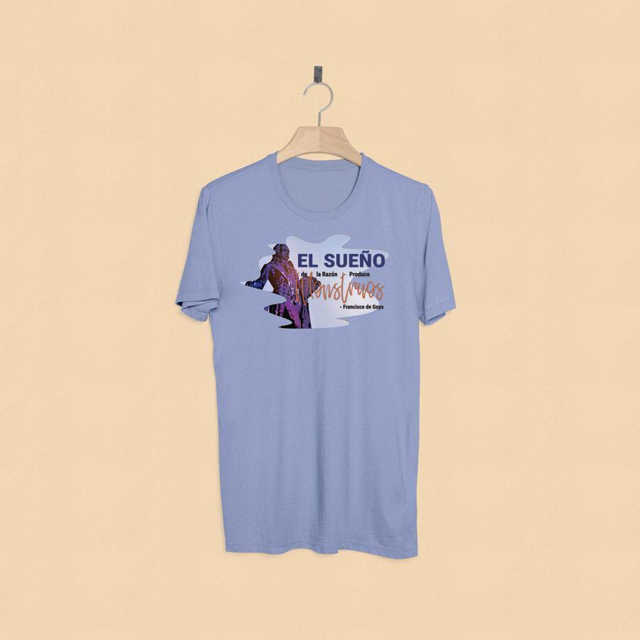 camiseta estampada francisco goya