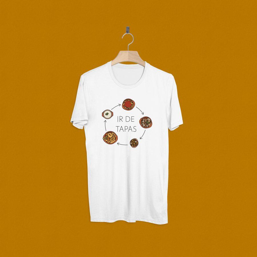 Camisetas estampadas para ir de tapas