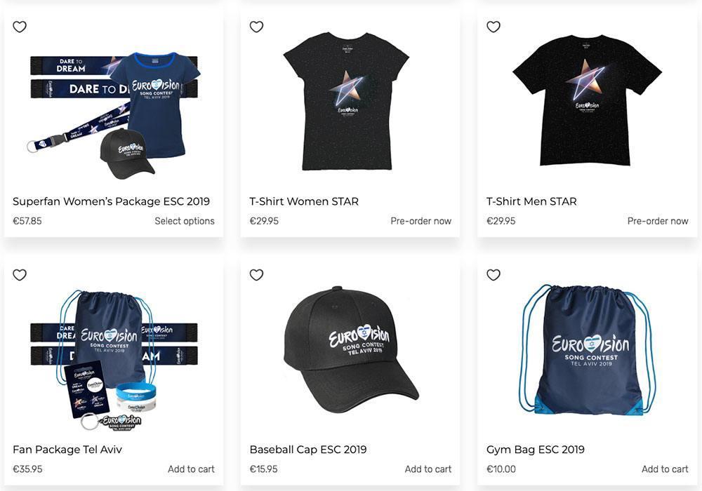 Camisetas eurovisión - mercancia oficial.