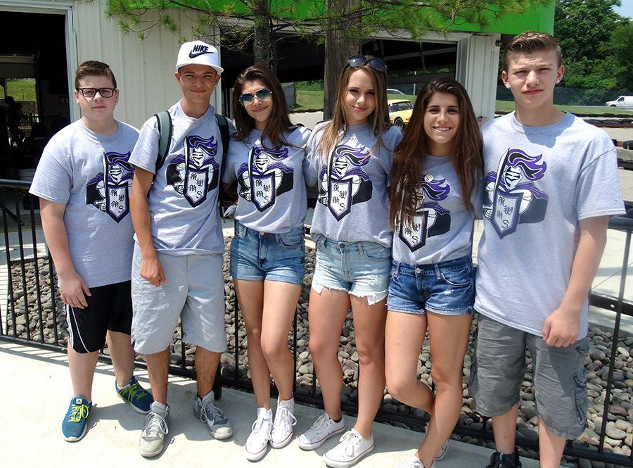 camisetas de fin de curso para grupos de escuela