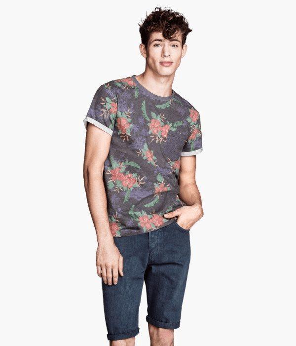 camisetas molonas, flores, H&M