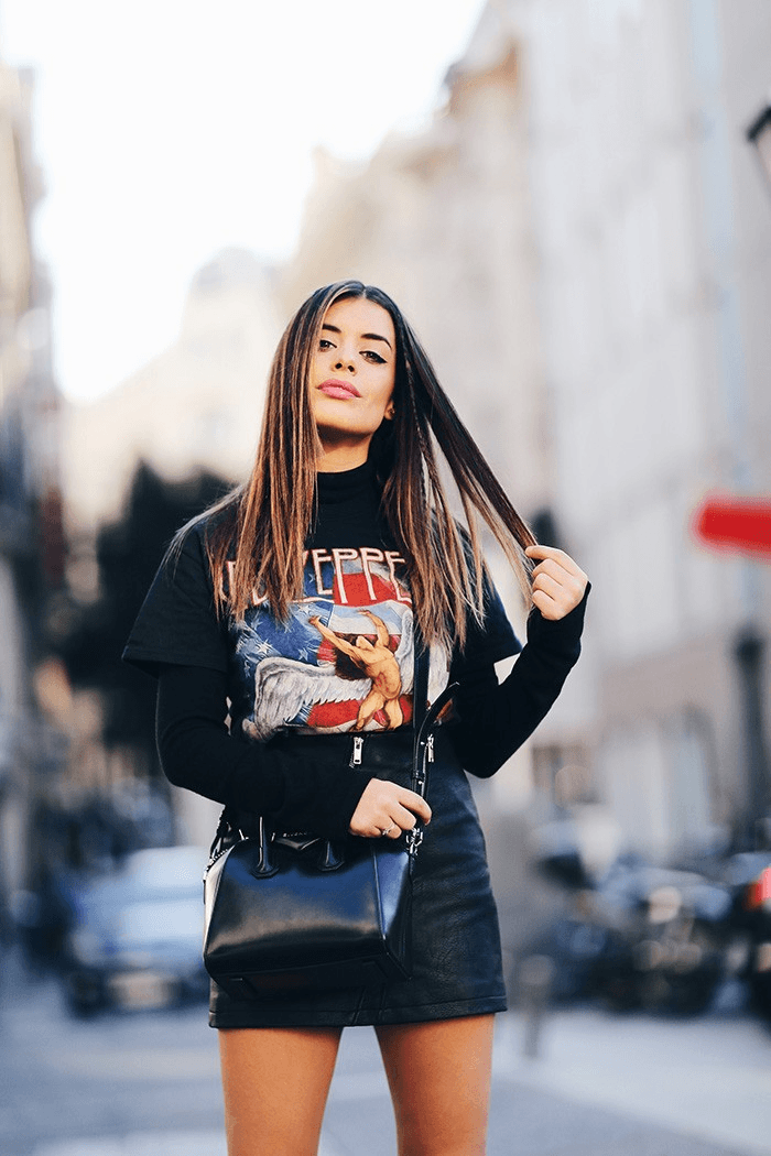 camisetas molonas, camiseta de led zeppellin, Aida Domènech, Dulceida