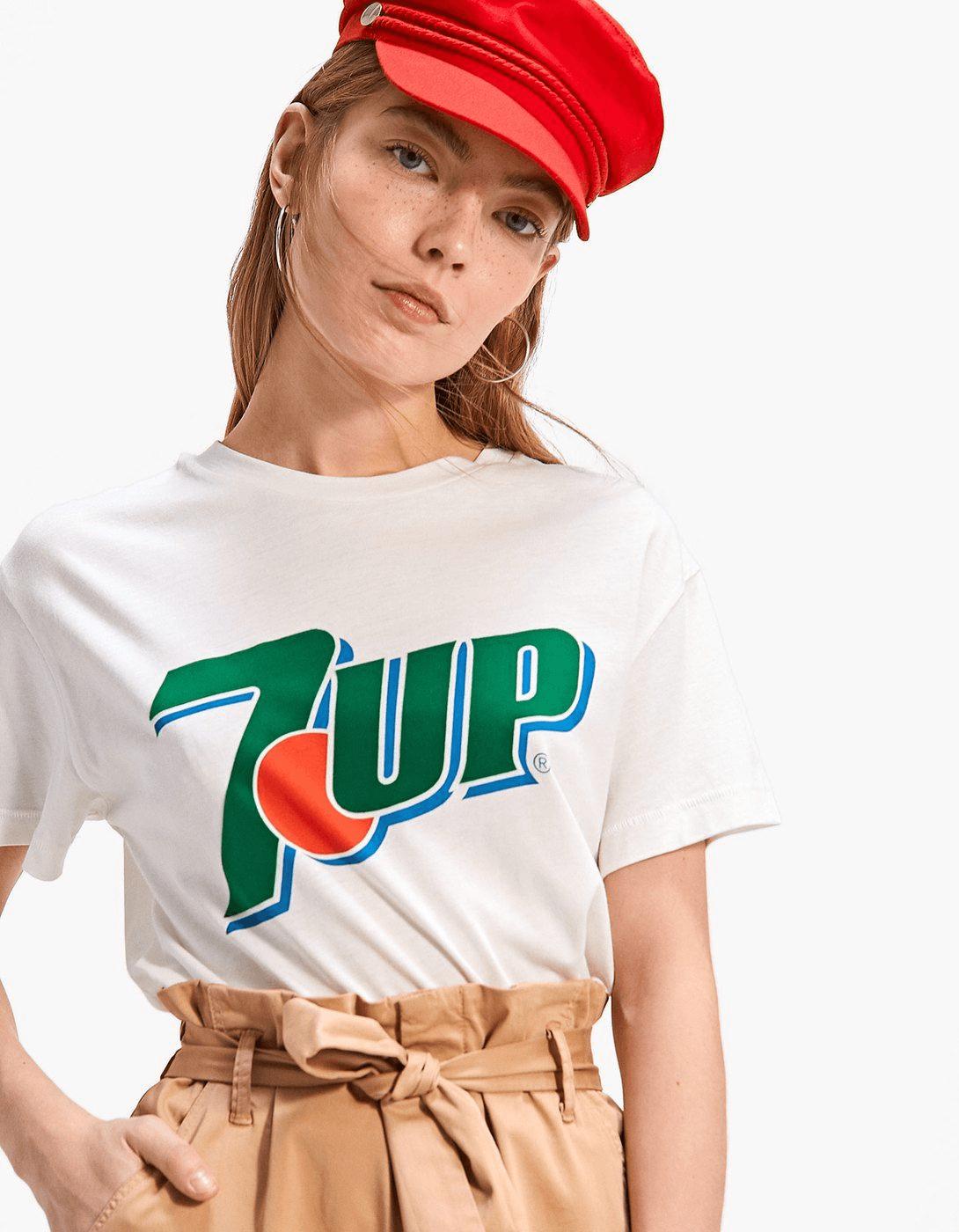 camisetas molonas, stradivarius, 7up