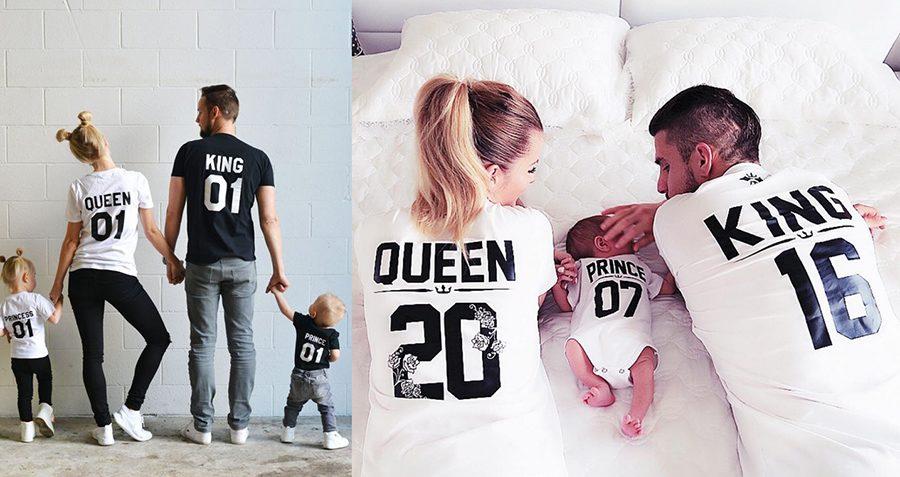 camisetas personalizadas para niños king & Queen