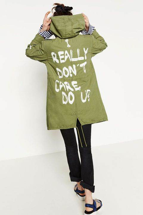Camisetas polémicas - Chaqueta de Zara 'I really don't care do you?'