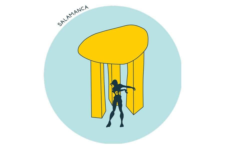 Camisetas reivindicativa Distrito de Salamanca