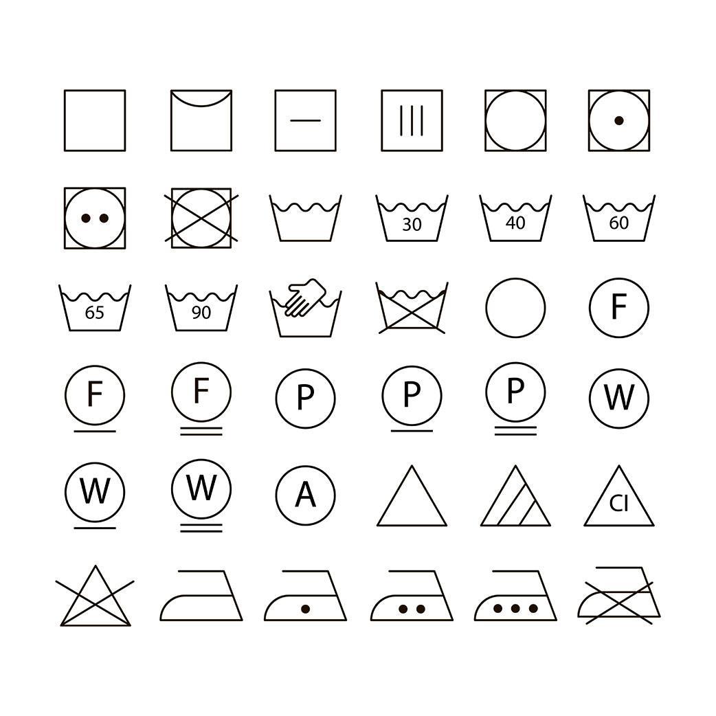 Camisetas técnicas - símbolos de lavado.