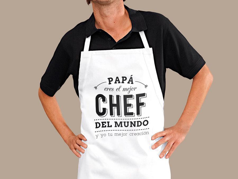 ejemplo de delantales originales para regalar chefs