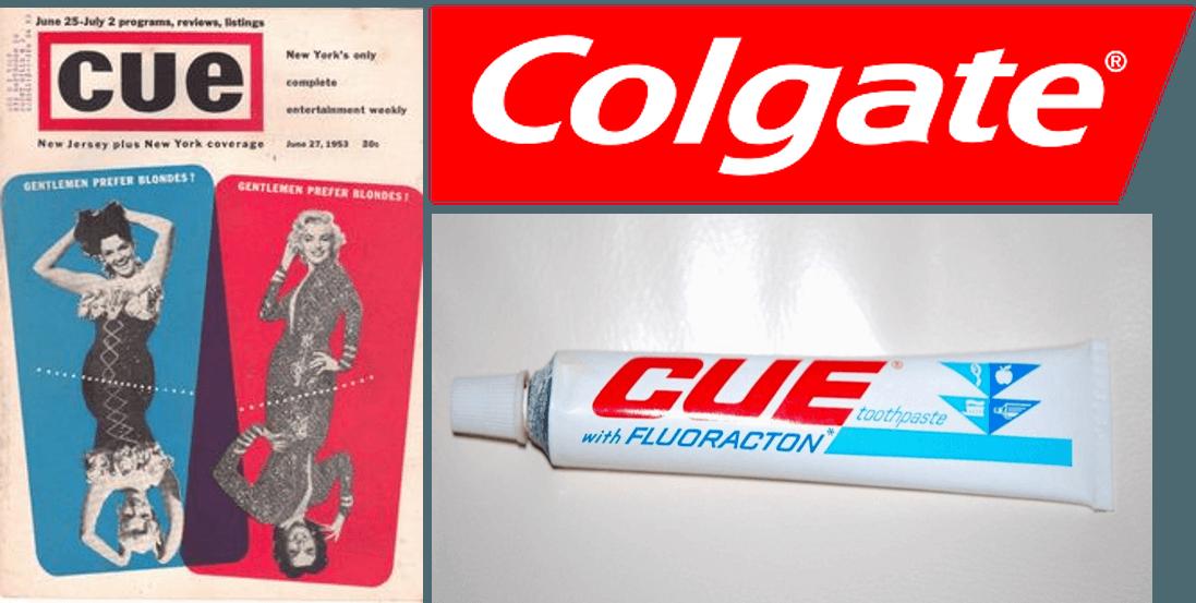 CUE de Colgate y la revista pornográfica del mismo nombre.