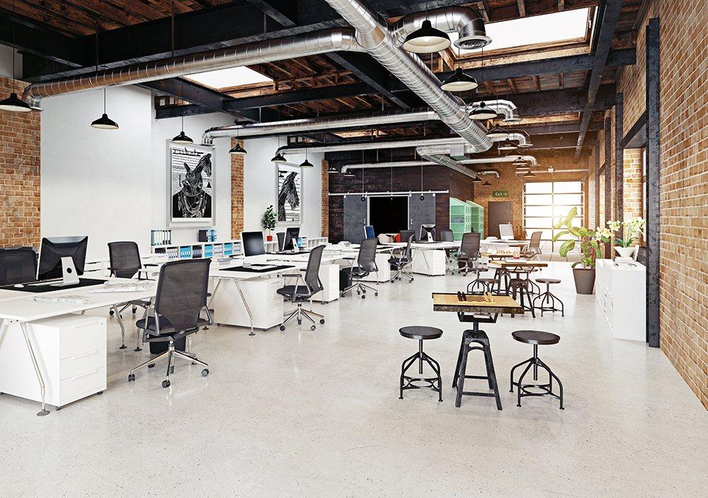 Espacio de trabajo - Oficina estilo industrial