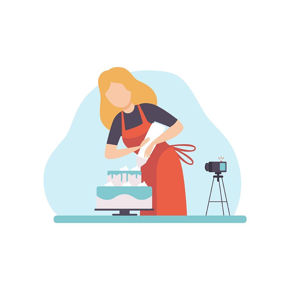 Chica cocinando en YouTube
