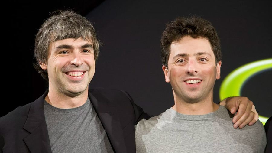Larry Page & Sergey Brin de Google