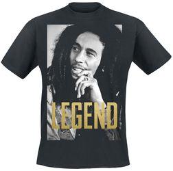 merchandising musical, bob marley, camiseta negra