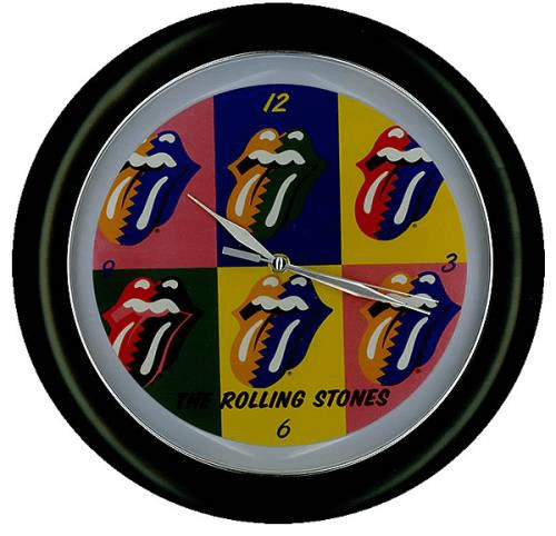 merchandising musical, rolling stone, reloj de pared
