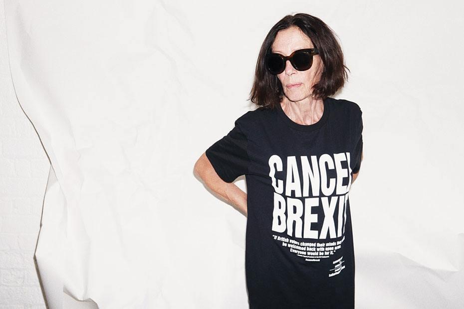 Serigrafía camisetas - Katherine Hamnett (Cancel Brexit)