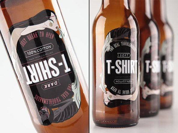 Packaging de Camisetas - Botellas