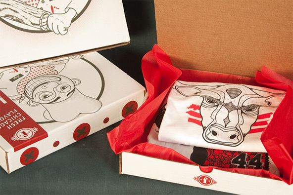 Packaging de camisetas - cajas de pizza